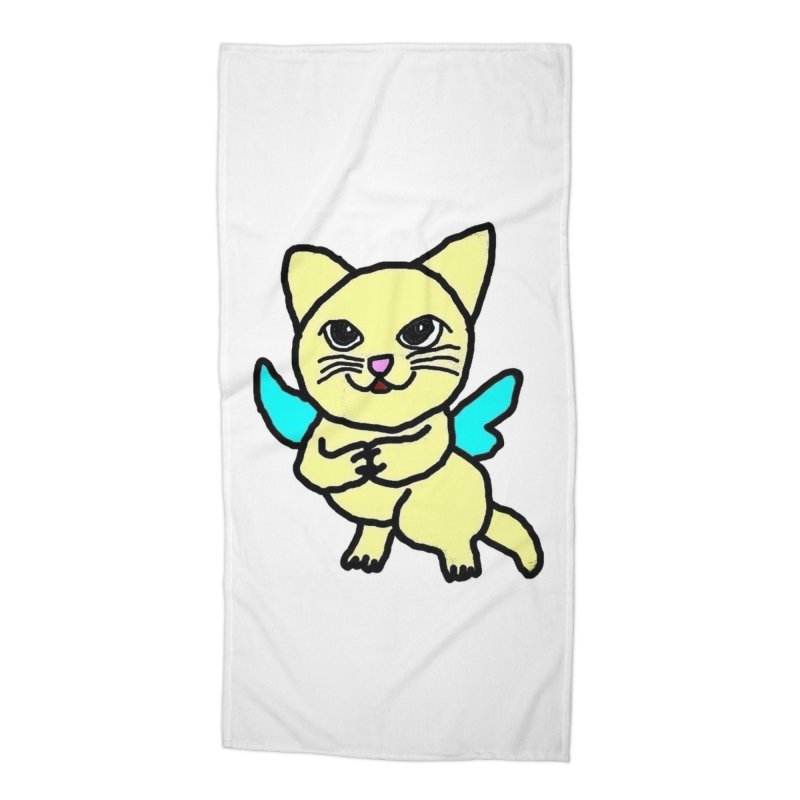 Fairy cat Accessories Beach Towel by Teresa's design's Artist Shop