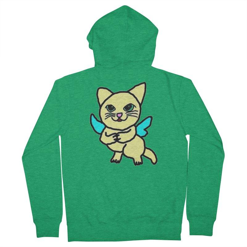 Fairy cat Men's Zip-Up Hoody by Teresa's design's Artist Shop
