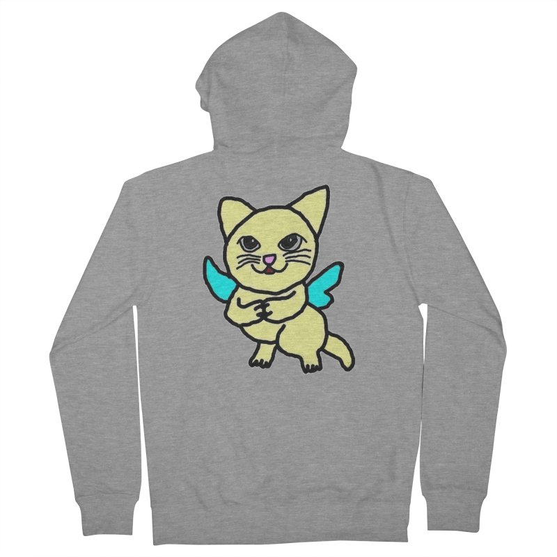 Fairy cat Men's Zip-Up Hoody by Teresa's design's Artist Shop