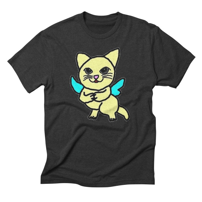 Fairy cat Men's Triblend T-Shirt by Teresa's design's Artist Shop