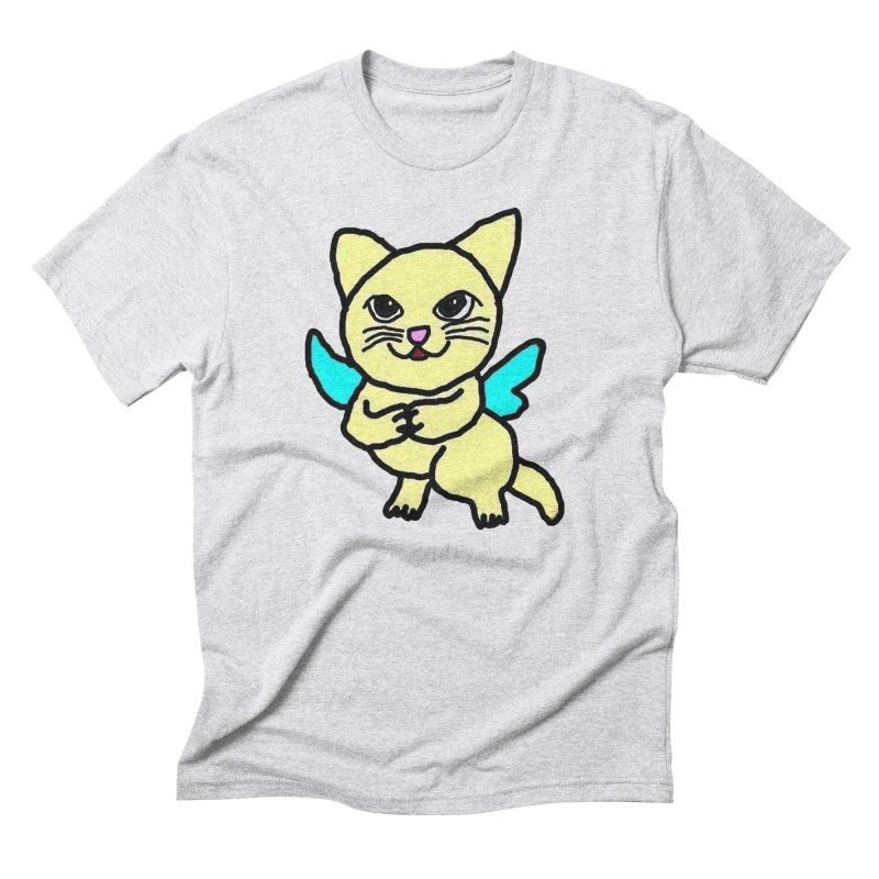 Fairy cat Men's Triblend T-Shirt by Teresa's design's Artist Shop