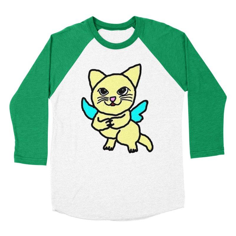 Fairy cat Men's Baseball Triblend T-Shirt by Teresa's design's Artist Shop
