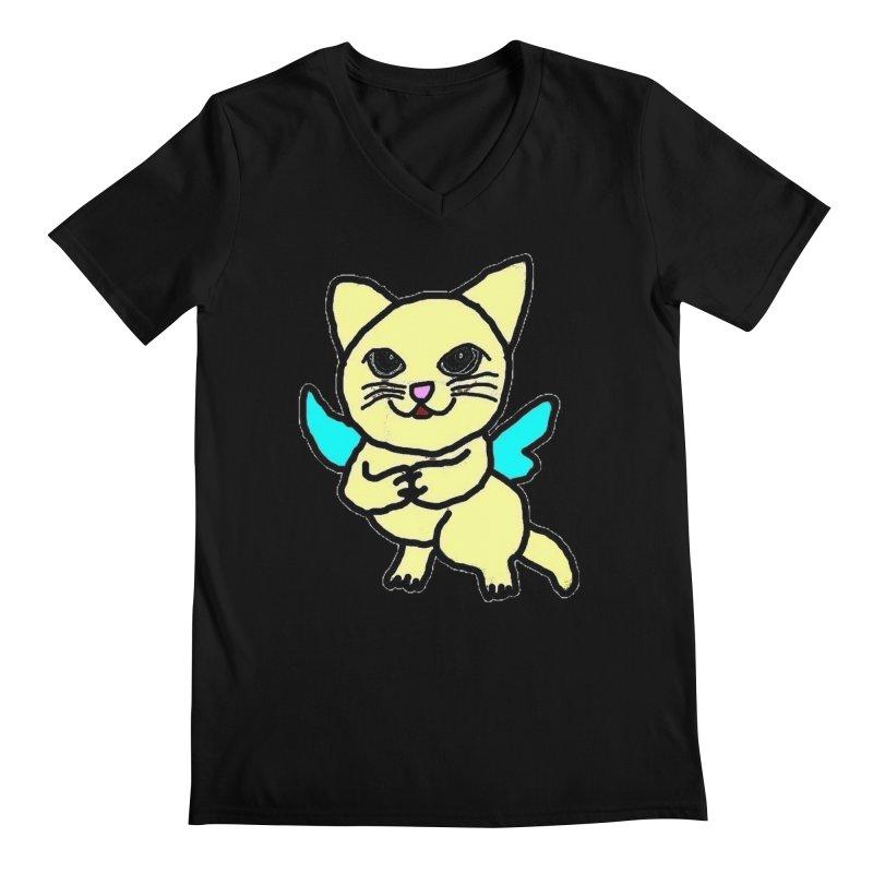 Fairy cat Men's V-Neck by Teresa's design's Artist Shop