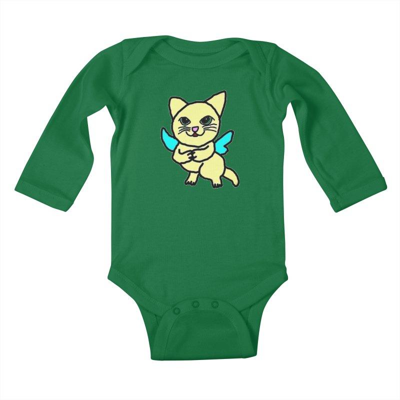 Fairy cat Kids Baby Longsleeve Bodysuit by Teresa's design's Artist Shop