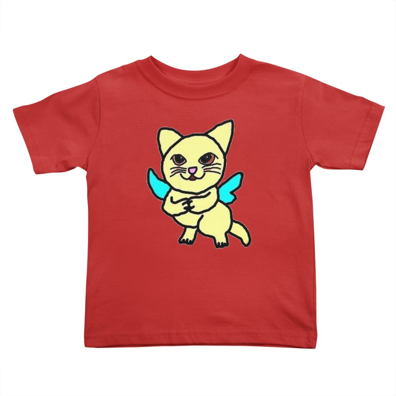Fairy cat Kids Toddler T-Shirt by Teresa's design's Artist Shop