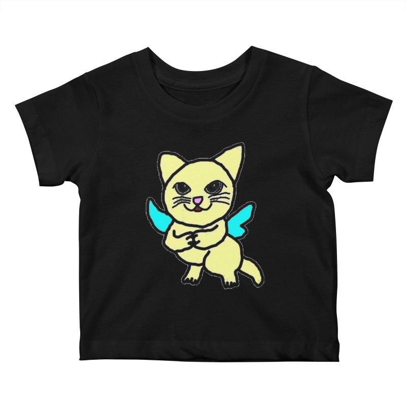 Fairy cat Kids Baby T-Shirt by Teresa's design's Artist Shop