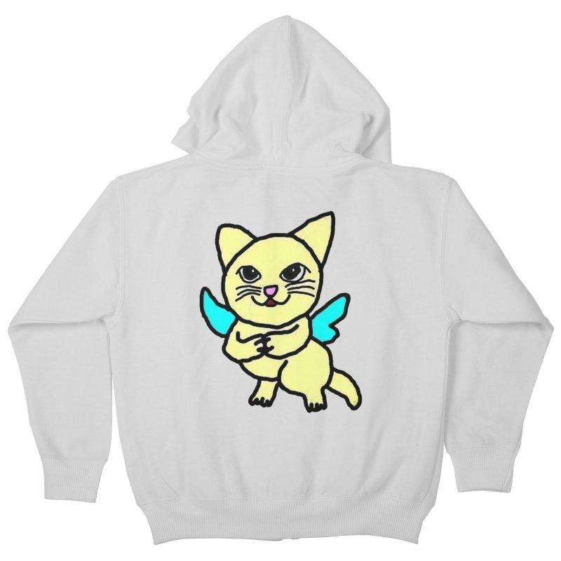 Fairy cat Kids Zip-Up Hoody by Teresa's design's Artist Shop