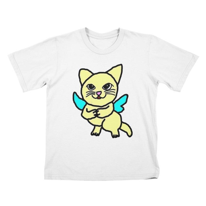 Fairy cat Kids T-Shirt by Teresa's design's Artist Shop
