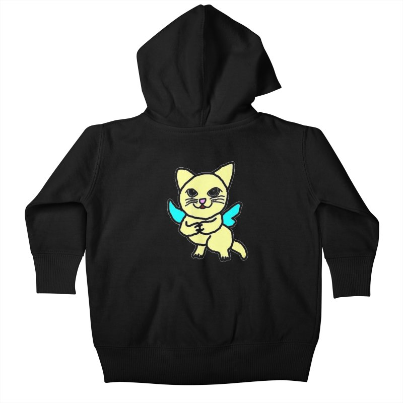 Fairy cat Kids Baby Zip-Up Hoody by Teresa's design's Artist Shop