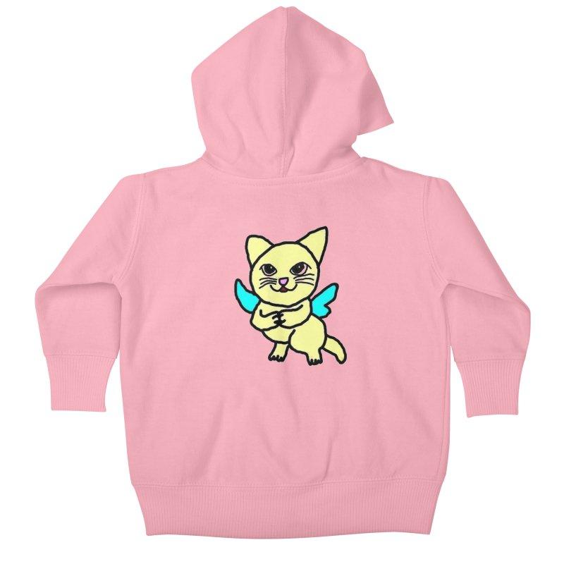 Fairy cat Kids Baby Zip-Up Hoody by Teresa's design's Artist Shop