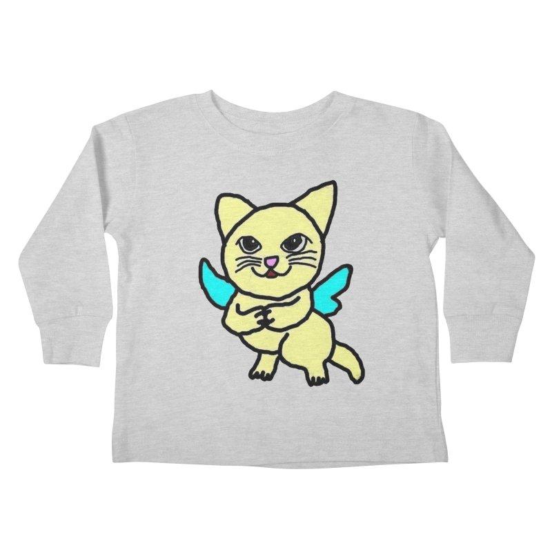 Fairy cat Kids Toddler Longsleeve T-Shirt by Teresa's design's Artist Shop