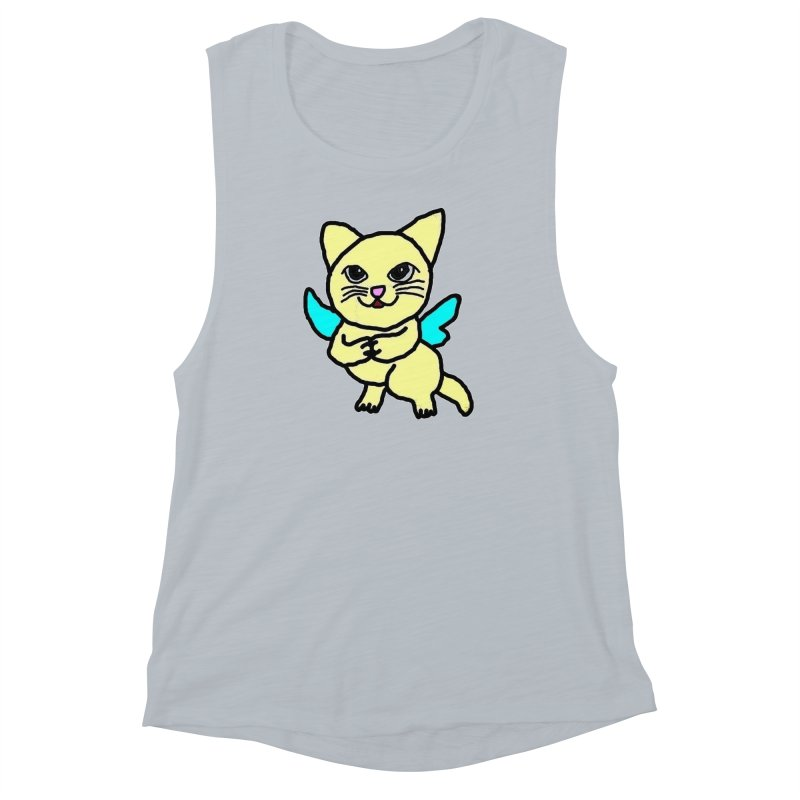 Fairy cat Women's Muscle Tank by Teresa's design's Artist Shop