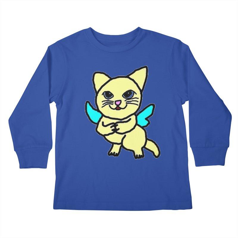 Fairy cat Kids Longsleeve T-Shirt by Teresa's design's Artist Shop