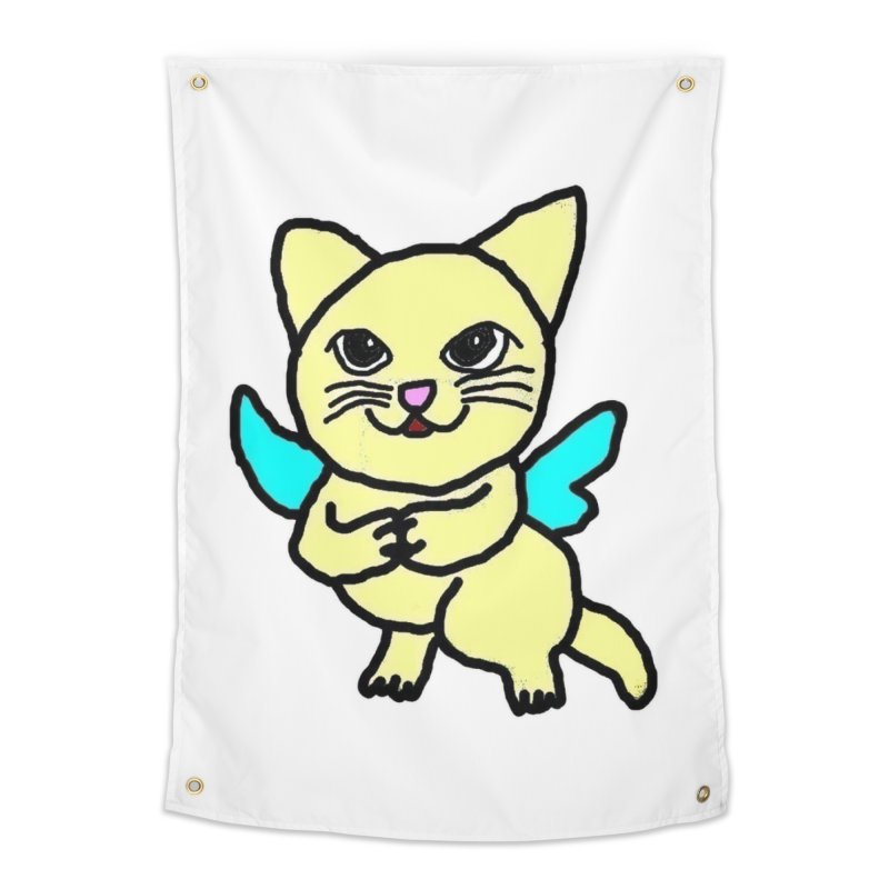 Fairy cat Home Tapestry by Teresa's design's Artist Shop