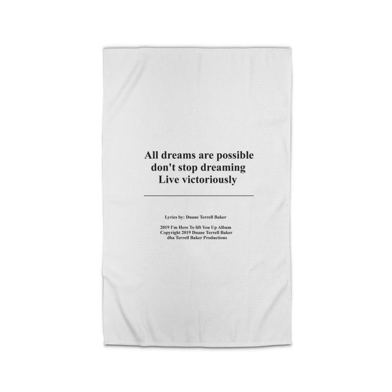 LiveVictoriouslyOption2_TerrellBaker2019ImHereToLiftYouUpAlbum_PrintedLyrics_05012019 Home Rug by Duane Terrell Baker - Authorized Artwork, etc