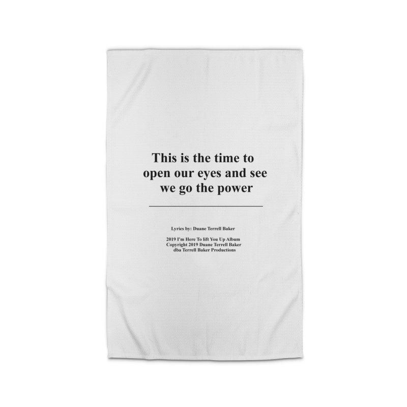 WeGotThePower_TerrellBaker2019ImHereToLiftYouUpAlbum_PrintedLyrics_05012019 Home Rug by Duane Terrell Baker - Authorized Artwork, etc