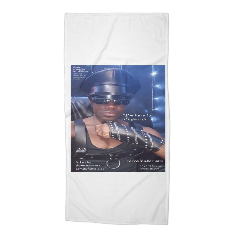 TerrellBaker_ImHereToLiftYouUp_LyricPromoArtwork10022019_4200_4800_ImHereAlbum Accessories Beach Towel by Duane Terrell Baker - Authorized Artwork, etc
