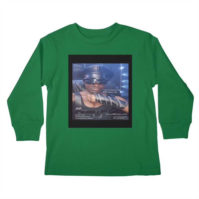 TerrellBaker_ImHereToLiftYouUp_LyricPromoArtwork10022019_3397_4481_ImHereAlbum Kids Longsleeve T-Shirt by Duane Terrell Baker - Authorized Artwork, etc