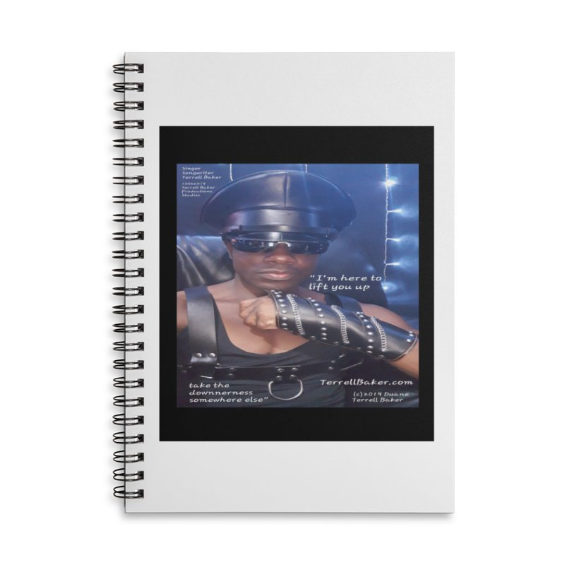 TerrellBaker_ImHereToLiftYouUp_LyricPromoArtwork10022019_3397_4481_ImHereAlbum Accessories Lined Spiral Notebook by Duane Terrell Baker - Authorized Artwork, etc