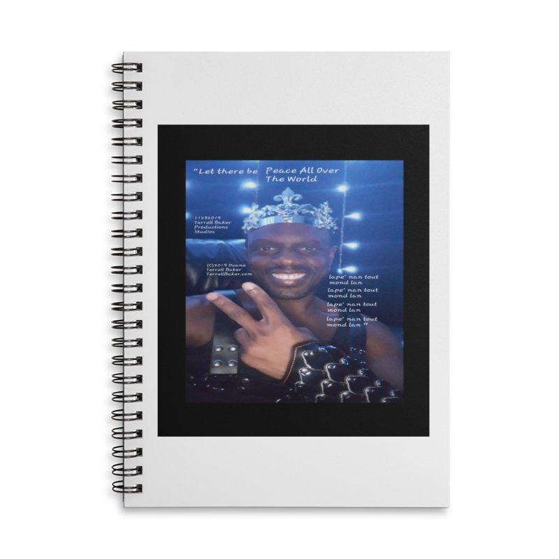 TerrellBaker_PeaceAllOverTheWorld_LyricPromoArtwork11232019_3897_4481_ImHereAlbum Accessories Lined Spiral Notebook by Duane Terrell Baker - Authorized Artwork, etc