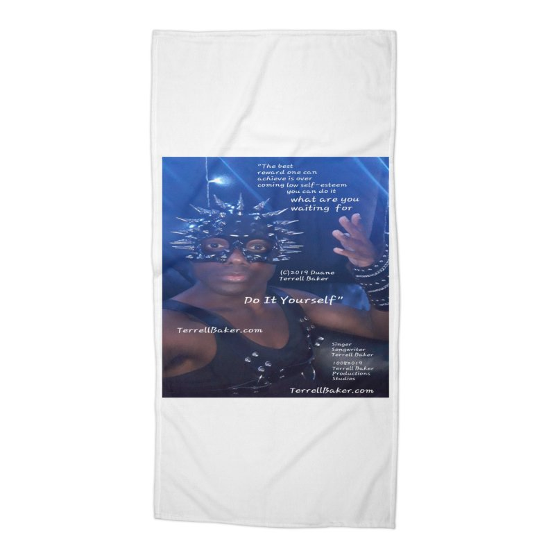 DoItYourself_LyricPromoArtwork10082019_4200_4800_ImHereAlbum Accessories Beach Towel by Duane Terrell Baker - Authorized Artwork, etc