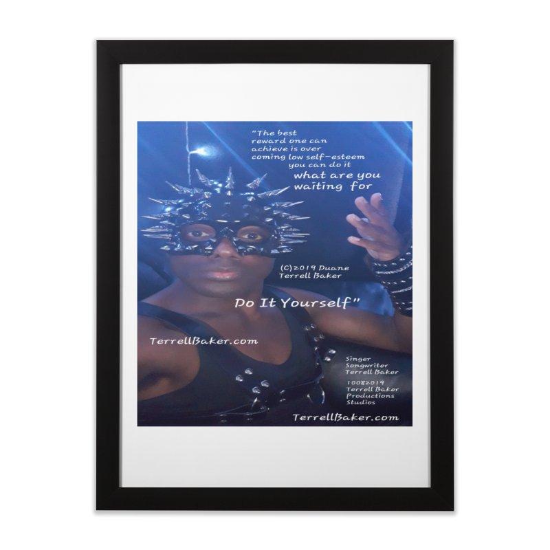 DoItYourself_LyricPromoArtwork10082019_4200_4800_ImHereAlbum Home Framed Fine Art Print by Duane Terrell Baker - Authorized Artwork, etc