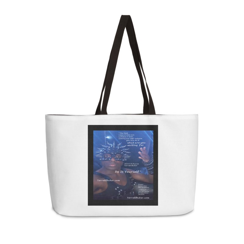 DoItYourself_LyricPromoArtwork10082019_4200_4800_ImHereAlbum Accessories Weekender Bag Bag by Duane Terrell Baker - Authorized Artwork, etc