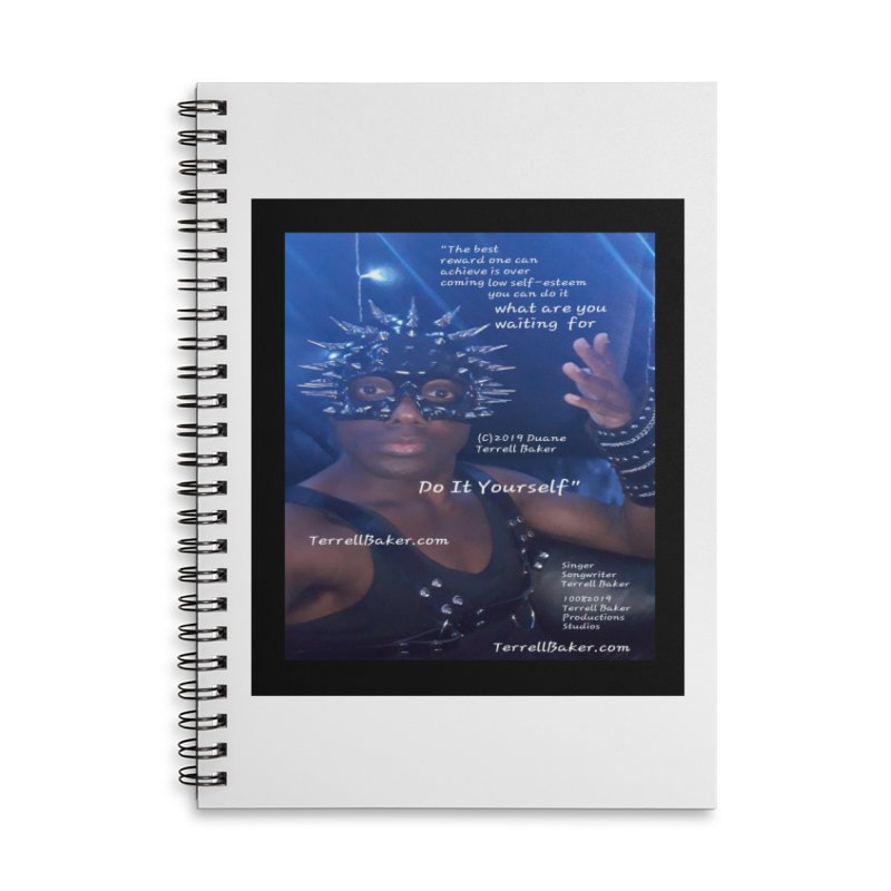 DoItYourself_LyricPromoArtwork10082019_4200_4800_ImHereAlbum Accessories Lined Spiral Notebook by Duane Terrell Baker - Authorized Artwork, etc