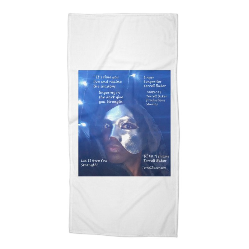 TerrellBaker_LetItGiveYouStrength_LyricPromoArtwork10082019_4200_4800_ImHereAlbum Accessories Beach Towel by Duane Terrell Baker - Authorized Artwork, etc