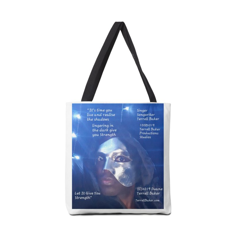 TerrellBaker_LetItGiveYouStrength_LyricPromoArtwork10082019_4200_4800_ImHereAlbum Accessories Tote Bag Bag by Duane Terrell Baker - Authorized Artwork, etc