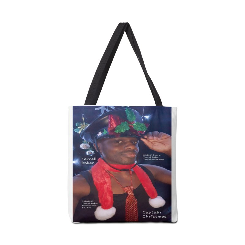 CaptainChristmas__TerrellBaker_AlbumMerchandiseArtwork_11162019_4200_4800 Accessories Tote Bag Bag by Duane Terrell Baker - Authorized Artwork, etc