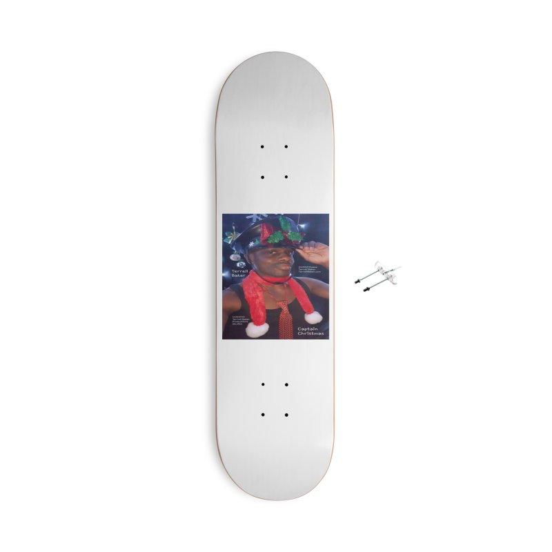 CaptainChristmas__TerrellBaker_AlbumMerchandiseArtwork_11162019_4200_4800 Accessories With Hanging Hardware Skateboard by Duane Terrell Baker - Authorized Artwork, etc