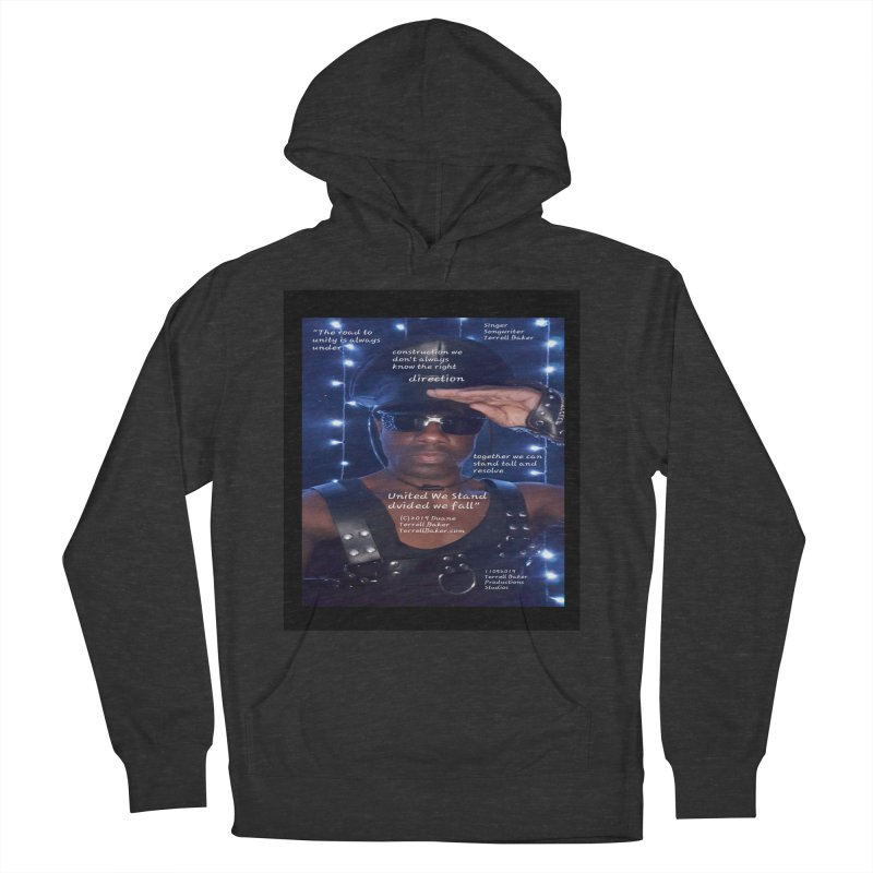 TerrellBaker_UnitedWeStand_LyricPromoArtwork11052019_3897_4481_ImHereAlbum Women's French Terry Pullover Hoody by Duane Terrell Baker - Authorized Artwork, etc