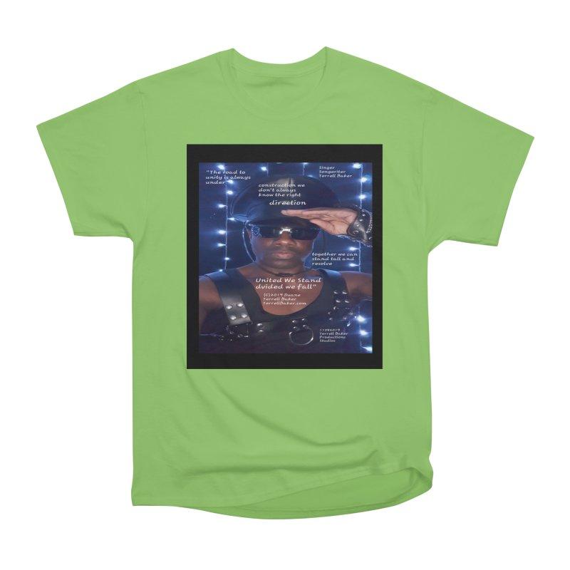 TerrellBaker_UnitedWeStand_LyricPromoArtwork11052019_3897_4481_ImHereAlbum Women's Heavyweight Unisex T-Shirt by Duane Terrell Baker - Authorized Artwork, etc