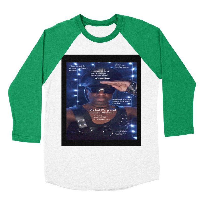 TerrellBaker_UnitedWeStand_LyricPromoArtwork11052019_3897_4481_ImHereAlbum Men's Baseball Triblend Longsleeve T-Shirt by Duane Terrell Baker - Authorized Artwork, etc