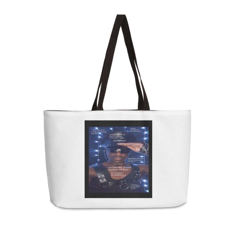 TerrellBaker_UnitedWeStand_LyricPromoArtwork11052019_3897_4481_ImHereAlbum Accessories Weekender Bag Bag by Duane Terrell Baker - Authorized Artwork, etc