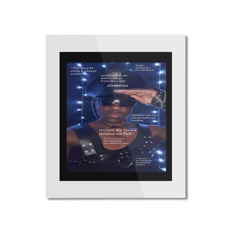 TerrellBaker_UnitedWeStand_LyricPromoArtwork11052019_3897_4481_ImHereAlbum Home Mounted Aluminum Print by Duane Terrell Baker - Authorized Artwork, etc