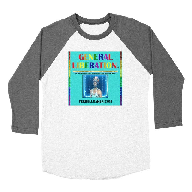 GENERALLIBERATIONALBUM_RAINBOWTEXT_ORIGINALARTWORKOPTION2_ARTISTPHOTOTERRELLBAKER_TEALBKDRP Women's Longsleeve T-Shirt by Terrell Baker Productions Studios TerrellBaker.com
