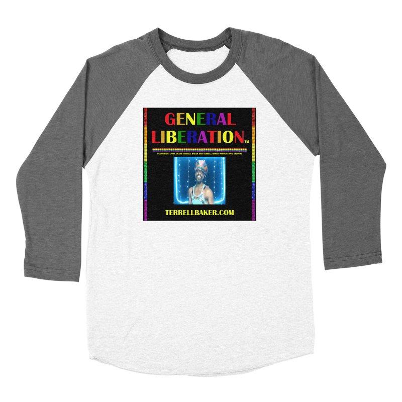 GENERALLIBERATIONALBUM_RAINBOWTXT_BLKBKDRP_ARTWORK_ARTISTPHOTOTERRELLBAKER Women's Longsleeve T-Shirt by Terrell Baker Productions Studios TerrellBaker.com
