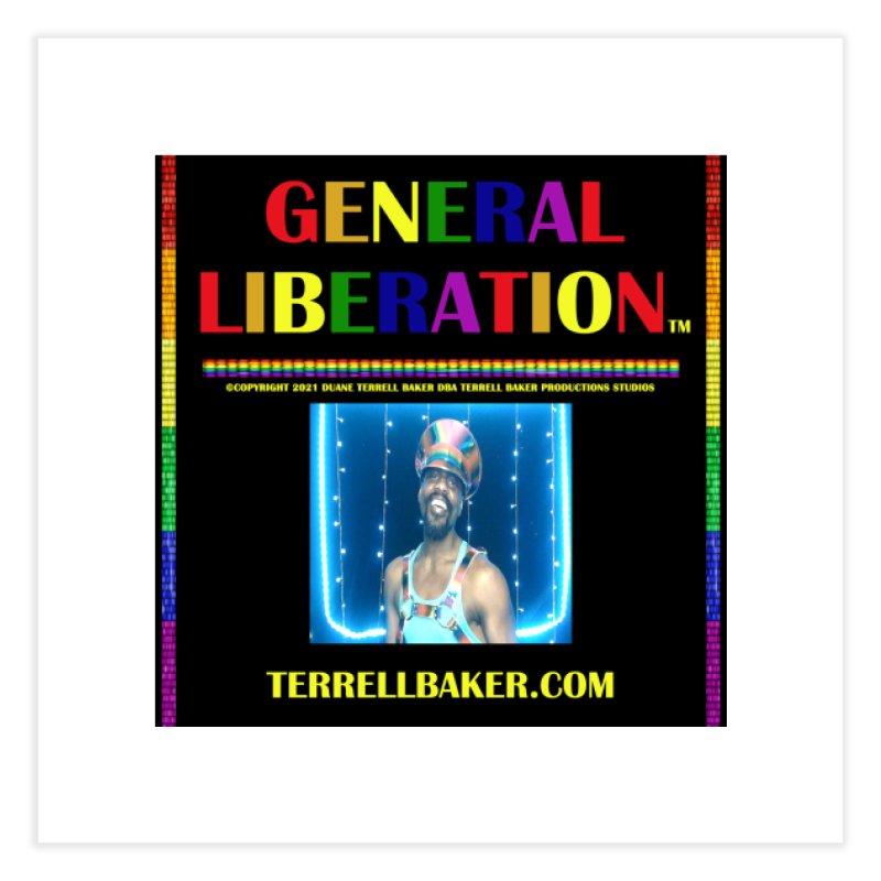 GENERALLIBERATIONALBUM_RAINBOWTXT_BLKBKDRP_ARTWORK_ARTISTPHOTOTERRELLBAKER Home Fine Art Print by Terrell Baker Productions Studios TerrellBaker.com