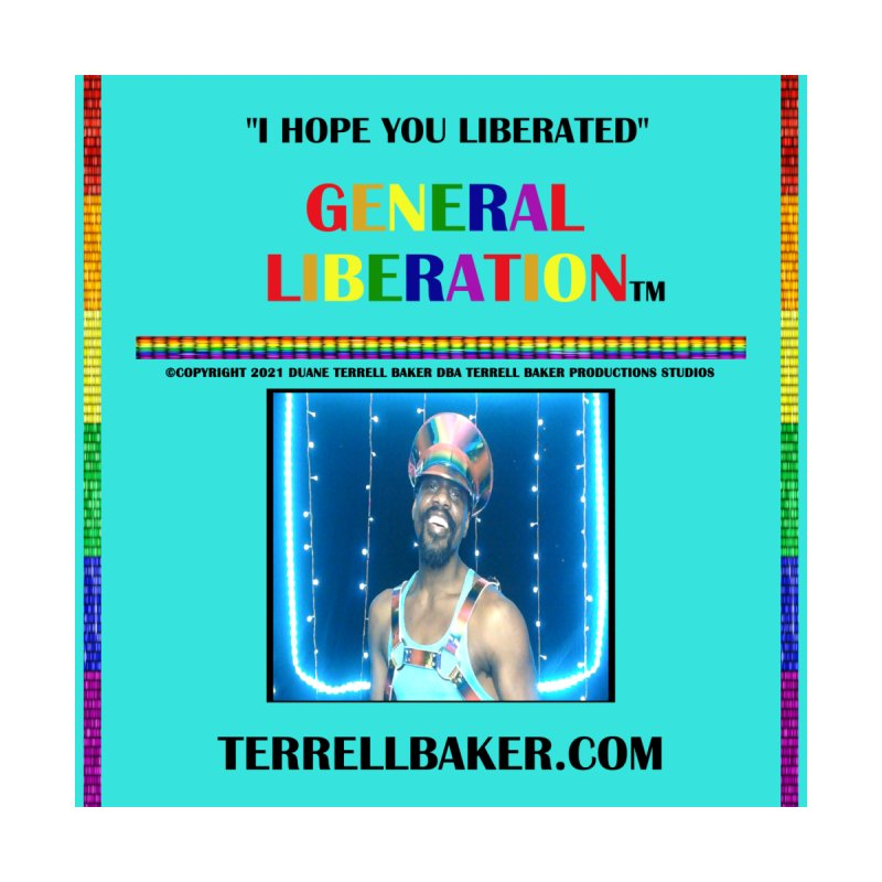 IHOPEYOULIBERATED_GLIBERATION_MERCH_TEALBKDRP Accessories Beach Towel by Terrell Baker Productions Studios TerrellBaker.com