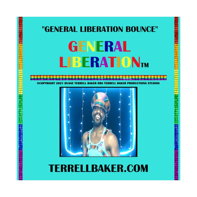GENERALLIBERATIONBOUNCE_GLIBERATION_MERCH_TEALBKDRP Accessories Beach Towel by Terrell Baker Productions Studios TerrellBaker.com