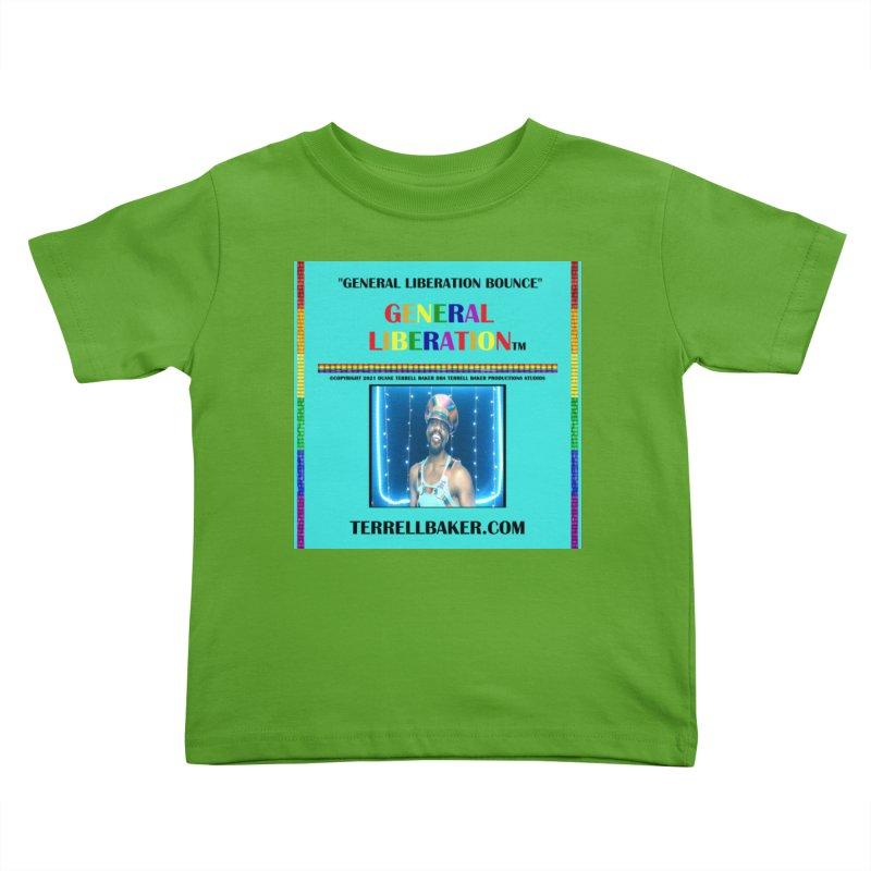 GENERALLIBERATIONBOUNCE_GLIBERATION_MERCH_TEALBKDRP Kids Toddler T-Shirt by Terrell Baker Productions Studios TerrellBaker.com