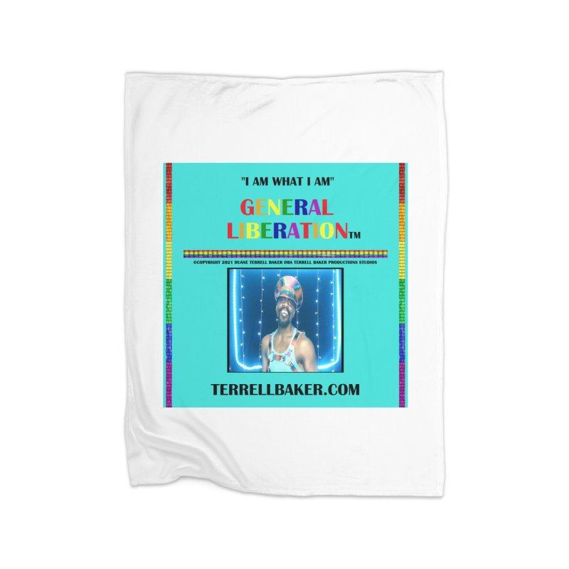 IAMWHATIAM_GLIBERATION_MERCH_TEALBKDRP Home Blanket by Terrell Baker Productions Studios TerrellBaker.com