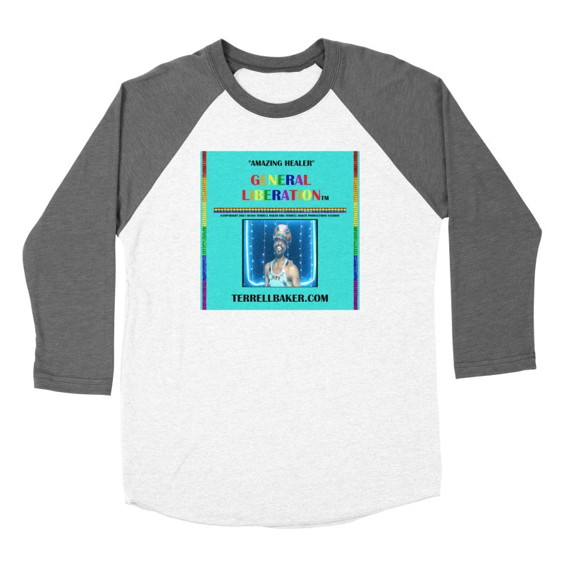 AMAZINGHEALER_GLIBERATION_MERCH_TEALBKDRP Women's Longsleeve T-Shirt by Terrell Baker Productions Studios TerrellBaker.com