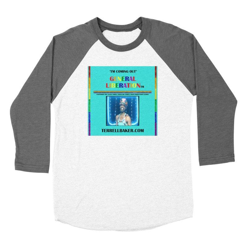 IMCOMINGOUT_GLIBERATION_MERCH_TEALBKDRP Women's Longsleeve T-Shirt by Terrell Baker Productions Studios TerrellBaker.com