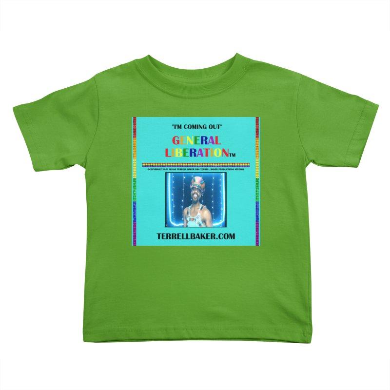 IMCOMINGOUT_GLIBERATION_MERCH_TEALBKDRP Kids Toddler T-Shirt by Terrell Baker Productions Studios TerrellBaker.com