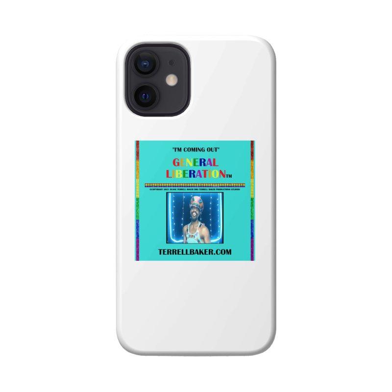 IMCOMINGOUT_GLIBERATION_MERCH_TEALBKDRP Accessories Phone Case by Terrell Baker Productions Studios TerrellBaker.com