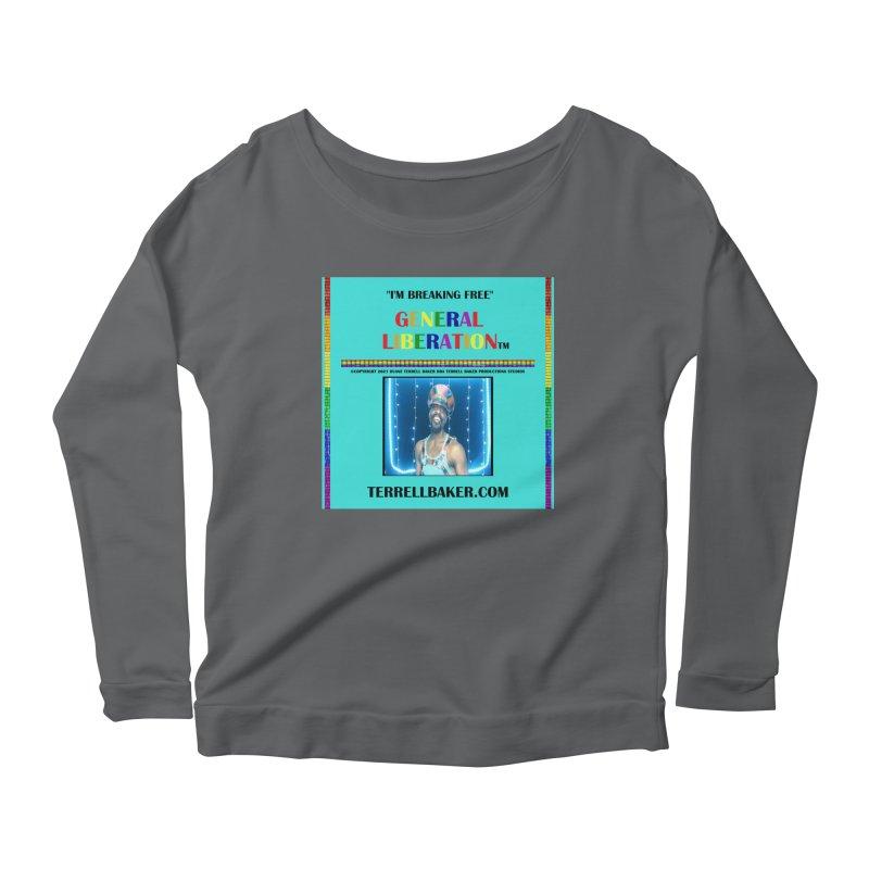 IMBREAKINGFREE_GLIBERATION_MERCH_TEALBKDRP Women's Longsleeve T-Shirt by Terrell Baker Productions Studios TerrellBaker.com