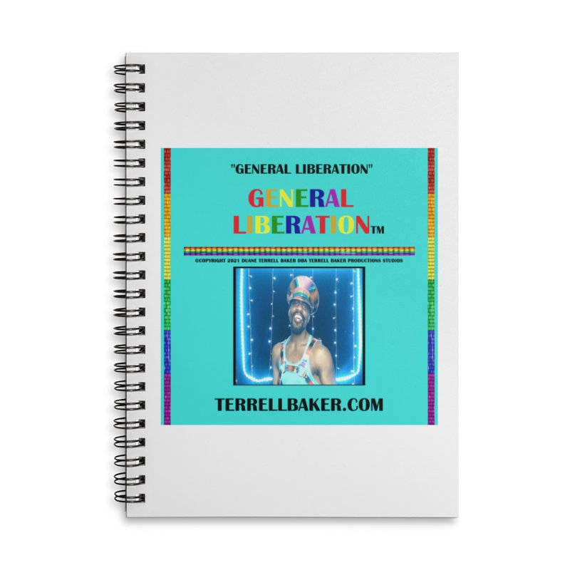GENERALLIBERATION_GLIBERATION_MERCH_TEALBKDRP Accessories Notebook by Terrell Baker Productions Studios TerrellBaker.com